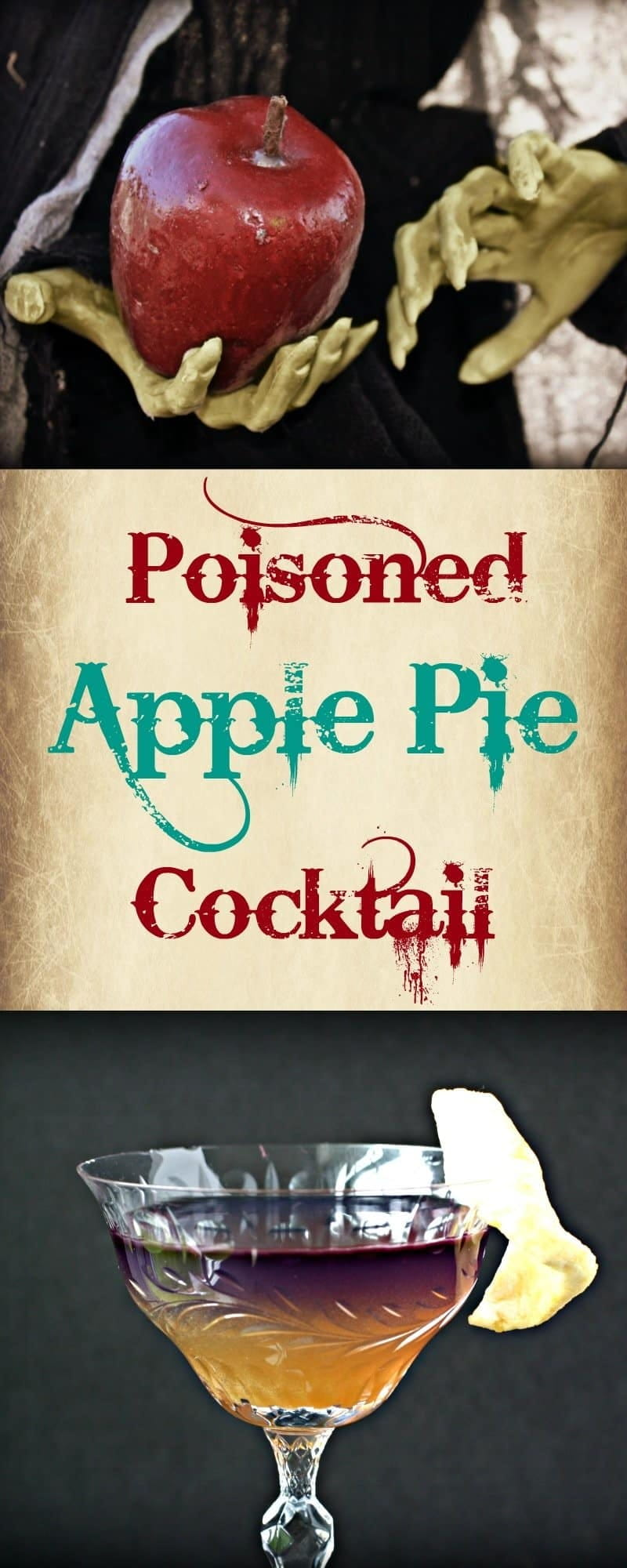 Snow White's Evil Queen could rule the world if she served this Poisoned Apple Pie Cocktail instead of an apple. Try this recipe and you can rule too.