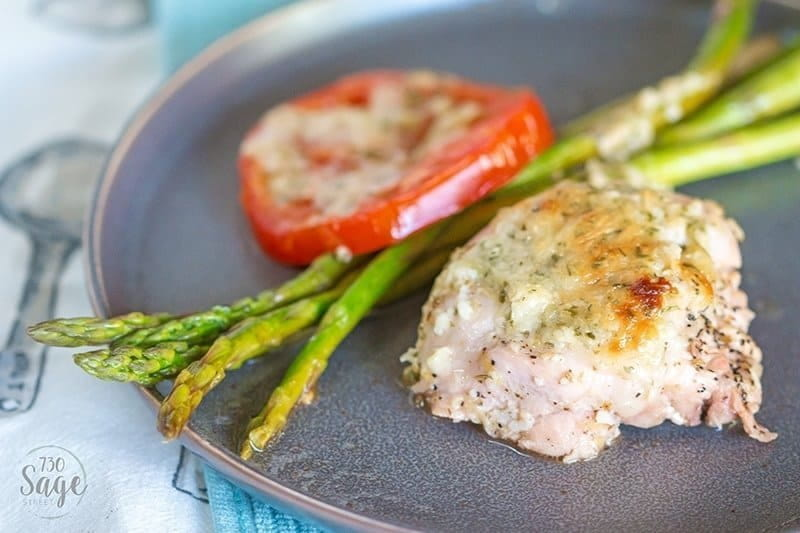 This delicious Sheet Pan - Lemon Chicken with Garlic Parmesan and Asparagus is a quick, easy and delicious one-pan keto meal for the whole family.