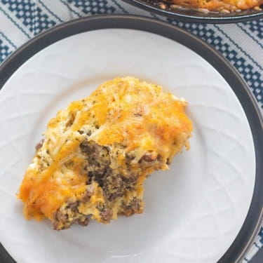 Low Carb Cheeseburger Pie – Easy & Delicious