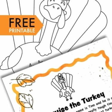 A Turkey in Disguise Project Free Printable Template