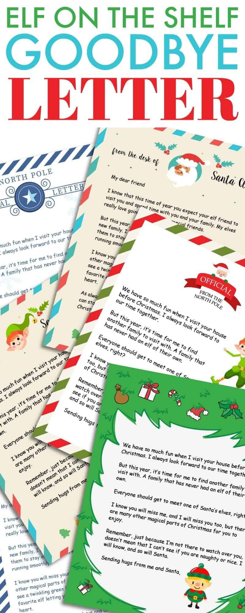 Are you tired of the effort involved in the Christmas elf every year? This Elf on the shelf goodbye letter will help him say goodbye for good.