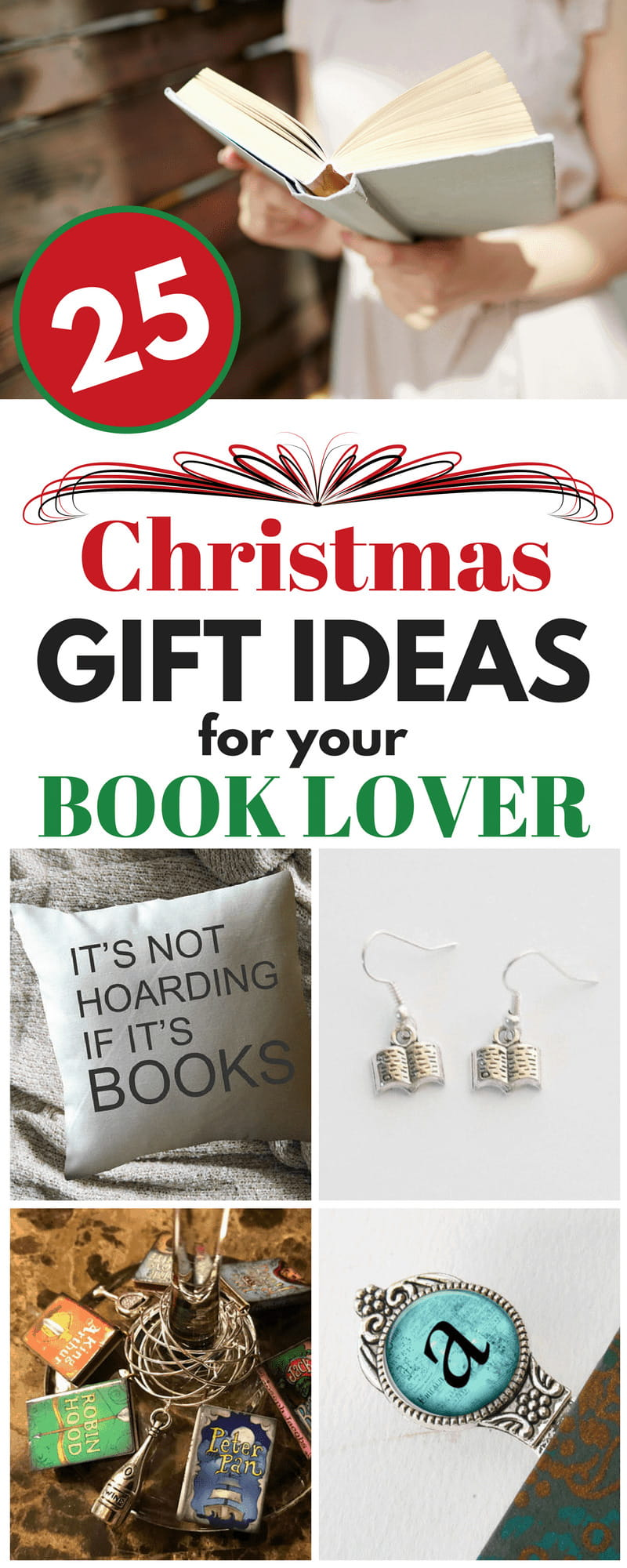 Do you have a book lover on your Christmas list, but no idea what to get them? Check out these 25 Christmas Gift Ideas for Your Book Lover.