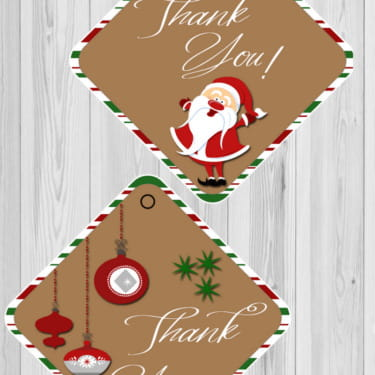 Christmas Thank You Tags Free Printable