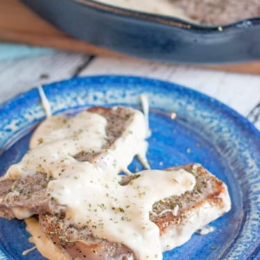 Low Carb Pork Chops in Creamy Parmesan Sauce
