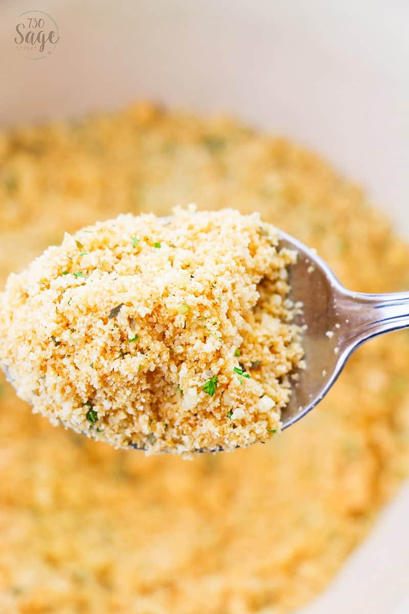Low Carb Breadcrumbs Keto Friendly Homemade Breadcrumb Mix 730 Sage Street