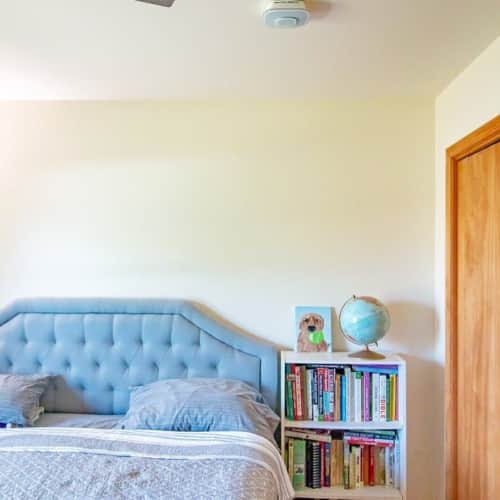 bedroom with a onelink safe and sound smart smoke detector