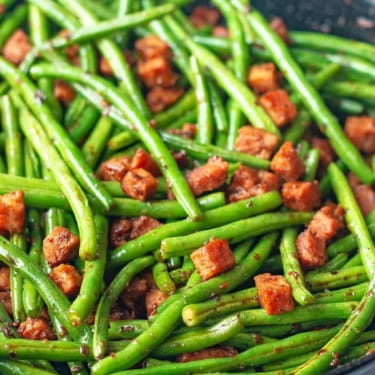 Low Carb Sauteed Ham and Green Beans