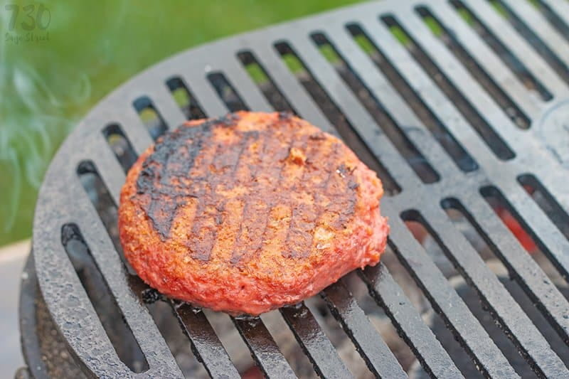 The Beyond Burger with grill marks