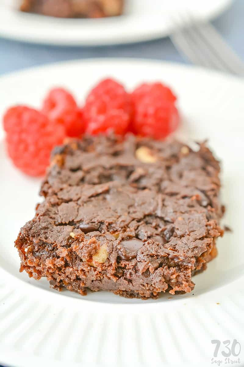 keto brownies on a white plate