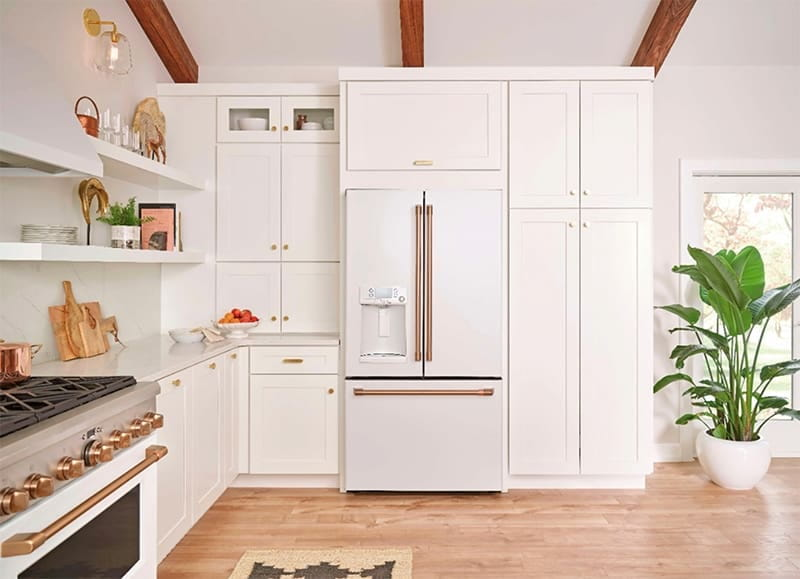 matte finish appliances in a white kitchen