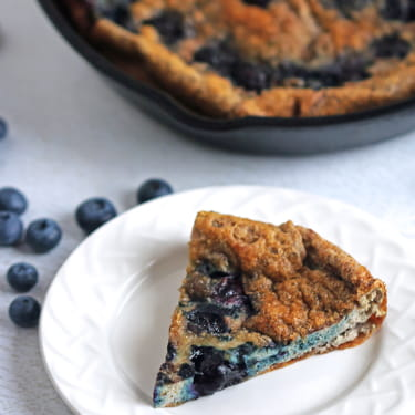 Egg Strata with Blueberries & Cinnamon