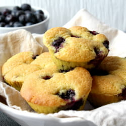 Keto Blueberry muffins ready to serve.