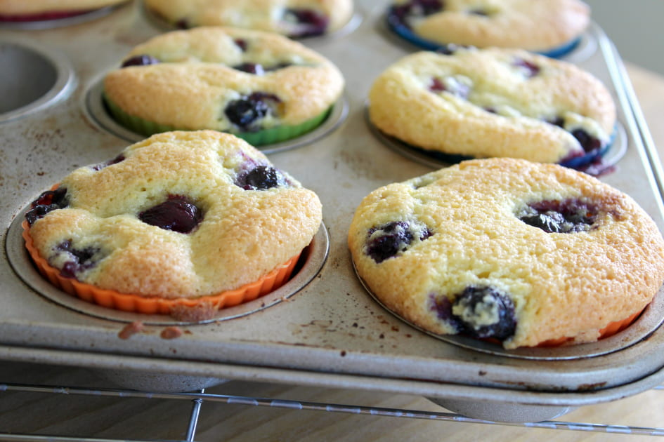 Keto Blueberry Muffins in Muffin Tin