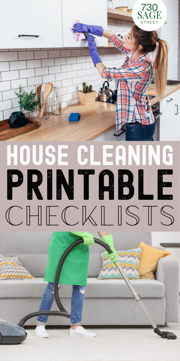 house cleaning checklist printable pin