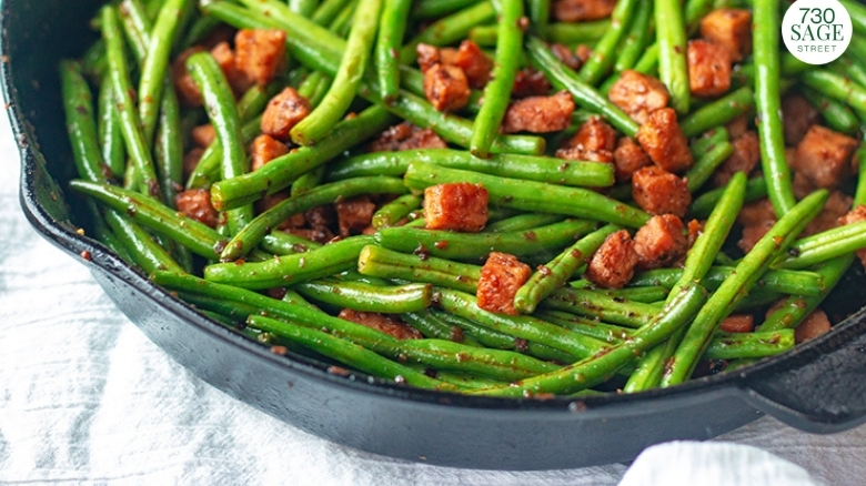 green beans with ham