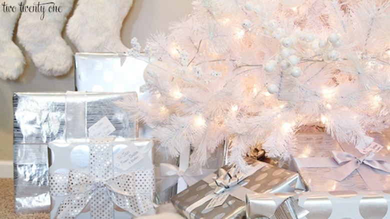 white fresh christmas decor