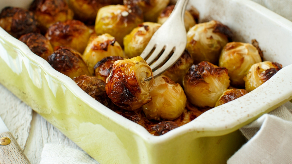 Casserole Dish with Brussel Sprouts