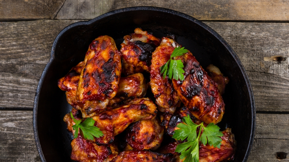 Cast Iron Pan with Chicken